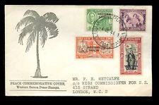 WESTERN SAMOA 1946 PEACE SET ILLUSTRATED FDC