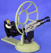 STAR WARS POTF DELUXE LOOSE GUNNER STATION OF THE MILLENNIUM FALCON & HAN SOLO.