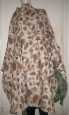 1943  WWII  U.S.M.C. Reversible Camouflage Poncho Dated 1943 Shelter Half Tent