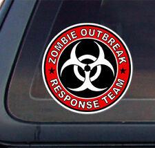 "Zombie Outbreak Response Team Car Decal / Bumper Sticker - 5"" x 5"""