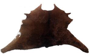 """Cowhide Rugs Calf Hide Cow Skin Rug (30""""x45"""") Deep Brown CH8222"""