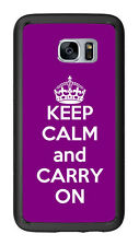 Purple Keep Calm and Carry On For Samsung Galaxy S7 G930 Case Cover by Atomic Ma