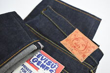 EVISU RANCH EV001 D39 PAINTED PANT RED SELVEDGE Men's W36 Rigid Jeans 30058*JS