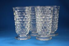 VINTAGE CLEAR INDIANA  WHITEHALL FOOTED ICE TEA TUMBLERS BY COLONY SET OF 4