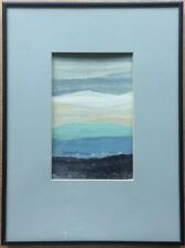 "Vintage Signed Betty Moore Lofquist Collage - Abstract Landscape - Frame 12""x17"""