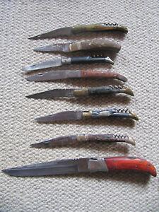 Konvolut 8 alte französische Taschenmesser von LAGUIOLE