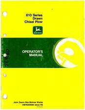 Used John Deere 610 Series Drawn Chisel Plow Operator Manual