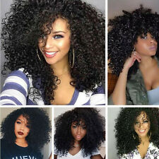 Long Curly Black Wig Full Head Synthetic Black Hair Lace Front Wigs for Wome,fr