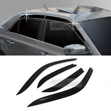 Smoke Window Rain Guards Vent Visor Molding Cover A185 for Chrysler 2011-16 300C