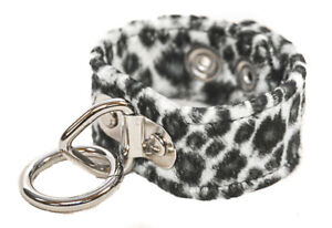 Bondage Bracelet Animal Leopard Punk Goth Rock Clubware Red Brown Green Blue