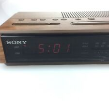 Vintage Sony Dream Machine Dual Alarm/Clock Radio Icf- C400, Wood Grain