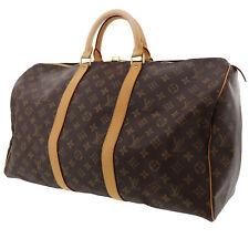 LOUIS VUITTON Keepall 50 Boston Hand Bag Monogram M41426 Vintage Auth #ZZ264 I