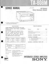 Sony Original Service Manual für TA-808M