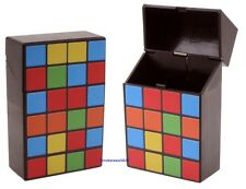 Cigarette Case - Champ Rubiks Cube Pattern Quality Make Your Own Plastic - NEW