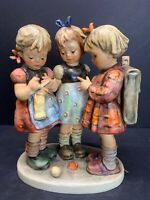 VTG M.I. HUMMEL * School Girls * 3 Kids Knitting Figurine #177/III TMK6 RARE