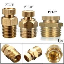 "Air Compressor Male Threaded Water Drain Valve Brass Tone PT 1/2'' 3/8"" 1/4''"