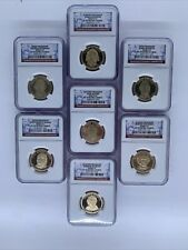 2007-2008 S Presidential Dollar 7 Coin Set NGC PF70 UC