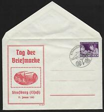 German Reich covers 1942 special cover Tag der Briefmarke / Strassburg not sent