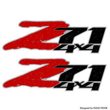 2 z71 decals | Chevy Silverado 07-13 | Truck sticker | Replacement part | Sierra