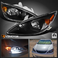 For 2002 2004 Toyota Camry Black Headlights Head Lamps Pair Leftright 02 03 04