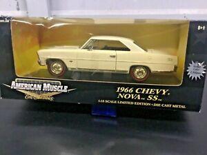 Ertl 1/18 Scale - 33518 1966 Chevy Nova SS White diecast model car