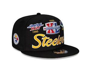 Pittsburgh Steelers New Era Multi Logo Super Bowl Champions 9FIFTY Snapback Hat