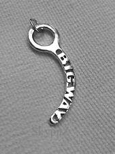 "silver Skydiving Closing Pin 925 ""Big Way"" , hand made. production of SkypnZ"