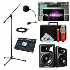 Home Recording Studio Bundle w/ Pro Tools 1st - Mxl Mics & M-Audio M-Track