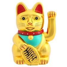 Suerte fortuna chino saludando Oro figura de gato con el movimiento de brazo de Dinero Feng Shui