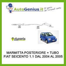 MARMITTA SILENZIATORE POSTERIORE + TUBO CENTRALE FIAT SEICENTO 1.1 2004> 2005
