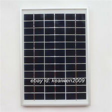 18V 278MA 5W solar panel charge 12V DC battery solar power car battery Aluminum