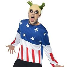 El prodigio Fiesta Iniciador De Fuego 90s Keith Flint Raver Fancy Dress Costume & Peluca