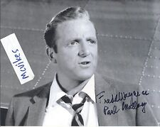 "Fredd Wayne as ""Paul Malloy"" The Twilight Zone Autographed 8x10 Photo COA"