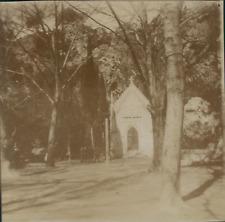 Espagne, Buñol, L'Église San Luis, 1908, Vintage citrate print Vintage citr