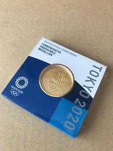 Tokyo 2020 Olympics Gold Medallion Japan Official 24-Karat Gold Plating NEW