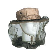 Mozzie Mosquito Net Head con banda de goma para Boonie Bush Sombrero De La Selva Verde Nuevo