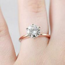 Rose Gold Ring 1.00 ct Round Diamond 6 Prongs Royal Crown Setting Ring !!