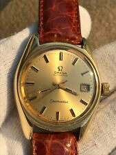 OMEGA SEAMASTER AUTOMATIC CAL.565 GOLD PLTED REF.166.067 MENS 35.5mm SERVICED