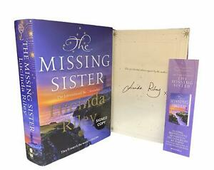 Signed Book - The Missing Sister by Lucinda Riley First Edition w Free Bookmark
