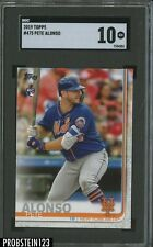 2019 Topps #475 Pete Alonso New York Mets RC Rookie SGC 10 GEM MINT