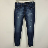 American Eagle Super Stretch Jegging Distressed Dark Wash Womens Jeans Size 6