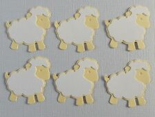 Sheep Die Cuts.  Sets of 6.  Pretty in Lemon & White.  See other Colors.  NEW.