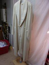 White Wool Coat Brown Full length Tall 22Wt