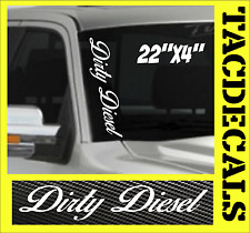 CH  Dirty Diesel VERTICAL Windshield Vinyl Side Decal Sticker Car Truck