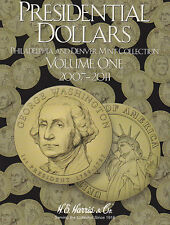 New HE Harris Album PRESIDENTAIL DOLLARS P&D #1 2007-2011 Coin Folder Book #2277
