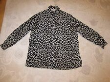 Real Clothes Saks Fifth Avenue leopard print silk blouse, ladies' size M, AS IS
