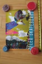 Z-Flex Jimmy Plumer Ramp Riot Rare Vintage Neon Skateboarding 12x17in. Poster