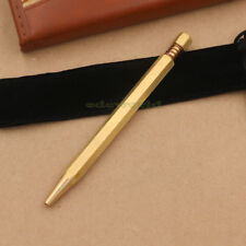 Handmade self-defense Pen Brass Rotate Tactical Pen Ball Pen CNC EDC Tool P-21TP
