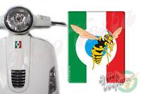 Front Badge Overlay Italian Flag Mio Vespa Wasp 3D Decals sticker GTS GT ET PX