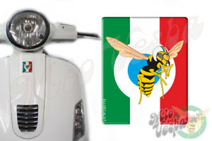 Front Badge Overlay Italian Flag Mio Vespa Wasp 3D Decals sticker GTS GT ET PX